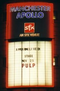 Pulp at Manchester Apollo, 25 November 2001