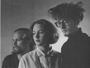 Pulp in 1983, l-r: Timm Allcard, Saskia Cocker, Jarvis Cocker