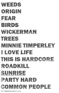 Pulp setlist for Birmingham Academy, 31 October 2001