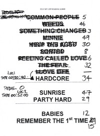 Pulp setlist for Reading Festival, 26 August 2000