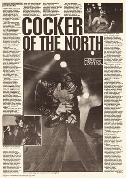 NME review of Pulp at the Leeds Heineken Festival, 22 July 1995