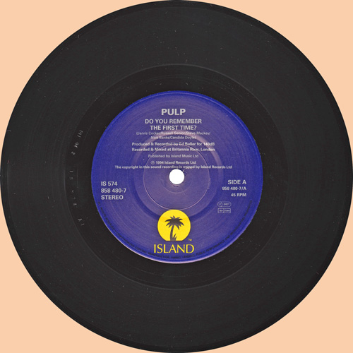 Pulp Do You Remember The First Time? 7 inch vinyl