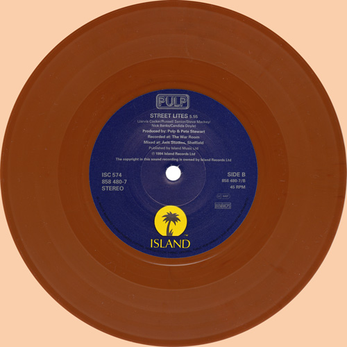 Pulp Do You Remember The First Time? 7 inch brown vinyl