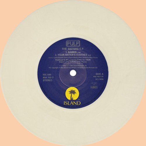 Pulp The Sisters EP 7 inch white vinyl