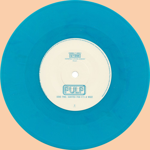 Pulp Mis-Shapes & Sorted 7 inch blue vinyl